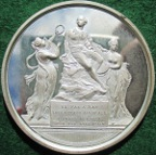 William Shakespeare, National Edition of his Works 1803, silver subscriber�s medal by Conrad Kuchler