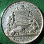 Duke of Wellington, death 1852, white metal medal by Allen & Moore