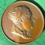 London, St Thomas�s Hospital, William Cheselden, The Cheselden Prize Medal circa 1845, bronze, by W Wyon
