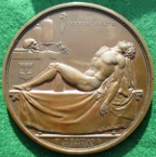 London, St Thomas�s Hospital, William Cheselden, The Cheselden Prize Medal circa 1845, bronze, by W Wyon,