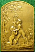 "France, ""Le Charmeur"" (1906), bronze plaquette  medal by Marie-Alexandre Coudray"
