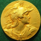 France, �France�, gilt-bronze medal by Louis Bott�e, circa 1910