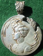Napoleon II, 'L'Aiglon' badge 1900, silvered-bronze