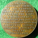 �The Rights of the People� 1823, bronze medal,