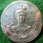 Netherlands, Queen Wilhelmina Coronation 1898, white metal medal