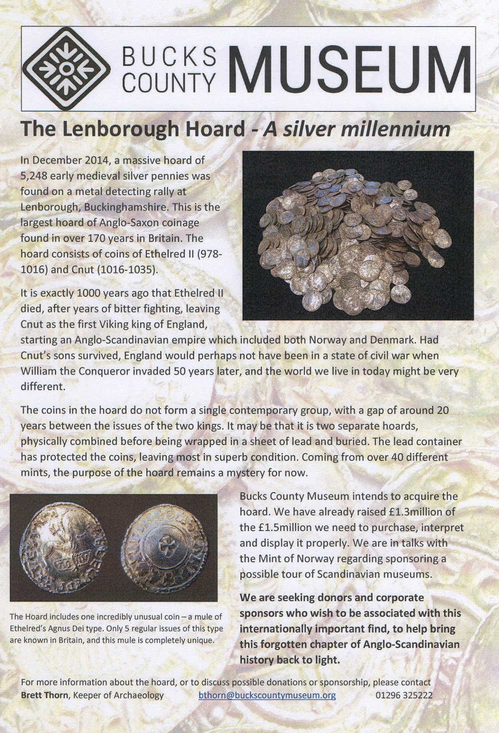 Lenborough Hoard Buckinghamshire Saxon coins