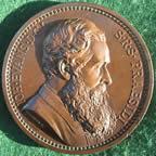 General Gordon, death at Khartoum 1885, bronze medal by JP MacGillivray